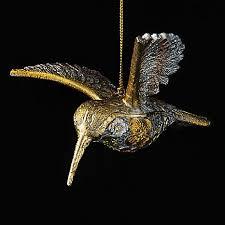 india gold hummingbird tree decoration