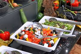 round table salad bar salad buffet table image collections table decoration ideas