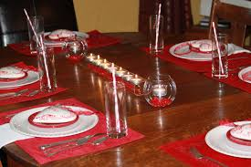 modern red nuance of the beautiful table decor that has red table