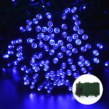 ledertek battery operated lights 200 led blue