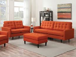 Living Room With Orange Sofa Sofa Seats Caravana Furniture