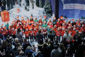 marlands shopping centre in southampton turns on its christmas