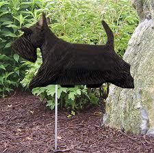 scottish terrier outdoor garden sign painted figure black