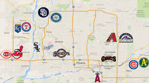 Phoenix Traffic Map by A Handy Map Of The Cactus League Stadiums Halos Heaven