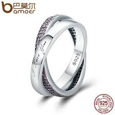 real promise rings images Bamoer real 925 sterling silver sweet promise ring pink cz female jpg