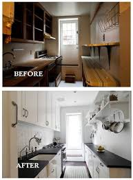 Small Galley Kitchen Designs Pictures Small Galley Kitchen Remodel Before And After Home Decorating