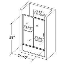 Shower Door Width Shower Doors