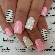 White Pink Nail Black White And Pink Nails Pictures Photos And Images For
