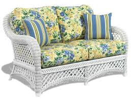Cushions For Wicker Patio Furniture Wicker Loveseat Happy Floral Cushion Wicker Patio Furniture