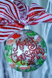 glass ornament personalized painted ornament