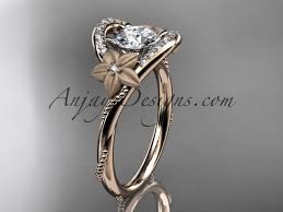 marriage rings images images Flower diamond rings rose gold unique marriage ring adlr166 jpg