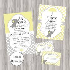 peanut baby shower peanut baby shower invite bundle yellow chic baby cakes