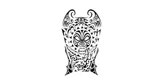 black ink polynesian maori tattoo design tattoobite com