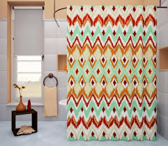 Trendy Shower Curtains Metallic Shower Curtain With Shelf And Unique Walls And Table
