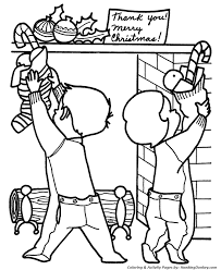 christmas morning coloring pages christmas stocking coloring