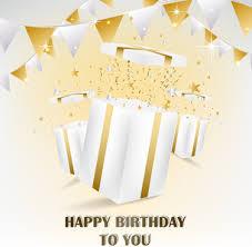 happy birthday gift card happy birthday gift cards design vector