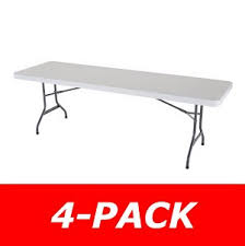 8 foot lifetime table new 2980 4 pack lifetime 8 white granite folding table