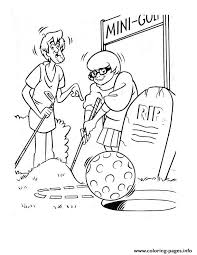 velma shaggy playing golf scooby doo 429f coloring pages printable