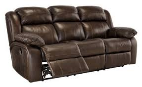 Brown Recliner Sofa Signature Design By Branton Genuine Leather Reclining Sofa