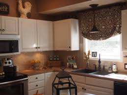 Area Above Kitchen Cabinets Kitchen Sink Curtains Black Knobs White Paneled Cabinets Cottage