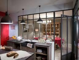 cuisine alu et bois cuisine avec verrière deco industrielle pinterest cuisine