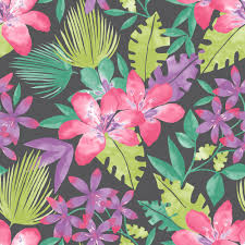 rasch paradise flowers pattern tropical floral leaf wallpaper 209129