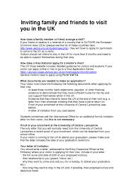 Uk Visa Letter Of Invitation Business Sle Invitation Letter For Uk Business Visa Application Choice
