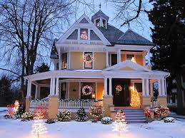 decorated houses for christmas beautiful christmas christmas houses in usa xmasblor