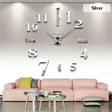 diy large modern design decorative digital 3d wall clocks relogio