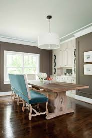 taupe walls contemporary dining room terracotta studio