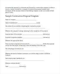 sample contractor proposal templates rfp proposal template