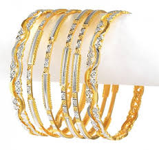 bracelet gold white gold images Two tone gold bangle set ajba50600 22k two tone bangles sets jpg