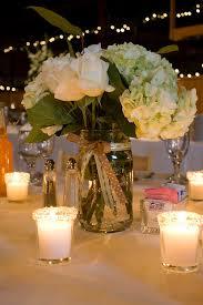 jar centerpiece ideas jar centerpiece hydrangeas and roses the votives