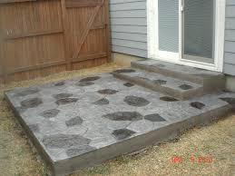 Brick Paver Patio Cost Estimator Porch Glamorous Cost Of Concrete Porch Design Ideas Cost Of