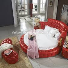 fo218 neoclassic round red leather bed alibaba new chesterfield