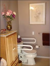 bathroom flower vase design ideas with wooden bathroom cabinet