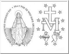 immaculate conception coloring pages 05 patterns pinterest