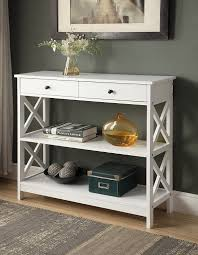 amazon com kings brand furniture console entryway table with 2