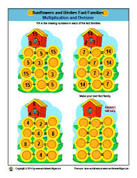 math fact families multiplication division worksheet library math