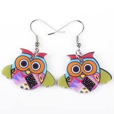 owl earrings drop owl earrings acrylic pattern for owloveme