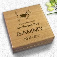 keepsake box dog collar keepsake box engraved pet memory box