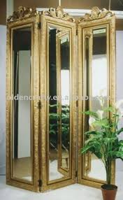 Quatrefoil Room Divider Four Panel Mirrored Screen Room Dividers Mechulk Regarding