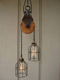 pulley system light fixtures recycled pulley system for a pendant light fixture jrcathome