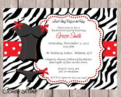 lingerie shower invite bachelorette shower invite zebra