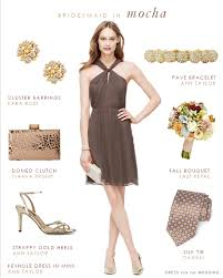soft brown bridesmaid dress