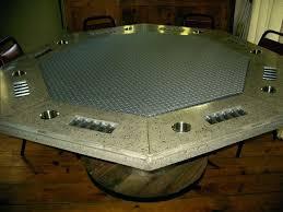 poker table photos concrete octagon poker table pictures