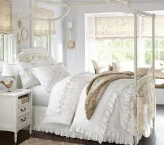 Girls White Bed by Blythe Tufted Canopy Bed Pottery Barn Kids