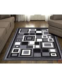 Area Rugs With Circles Great Deals On Hr Grey White Black Contemporary Geometric Modern
