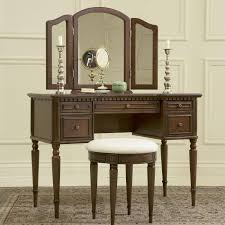 vanity table with lighted mirror and bench powell 429 290 warm cherry mirror bench bedroom vanity stuff for
