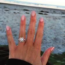 square engagement rings with band what of wedding band for a hexagon shaped engagement ring